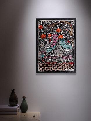 Elephant Madhubani Painting - 7.6in x 5.7in