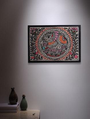 Elephant Madhubani Painting - 5.6in x 7.6in