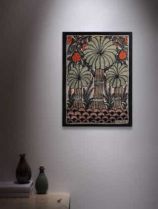 Trees Madhubani Painting - 7.6in x 5.6in