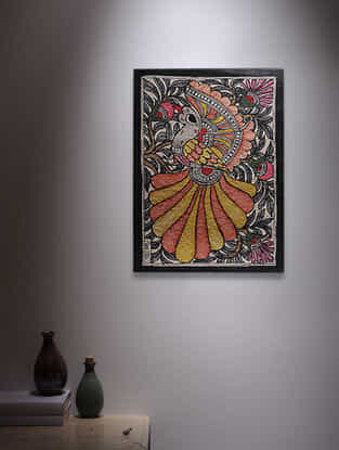 Bird Madhubani Painting - 5.6in x 7.6in