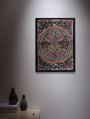Twin Fish Madhubani Painting - 7.6in x 5.6in