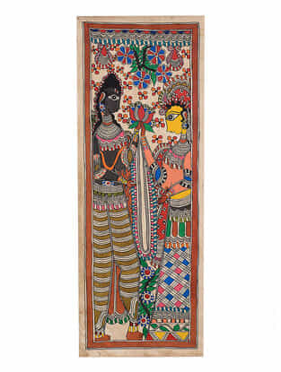 Deity Madhubani Painting - 30in x 11.1in