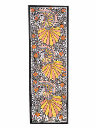 Peacock Madhubani Painting - 22.8in x 7.7in