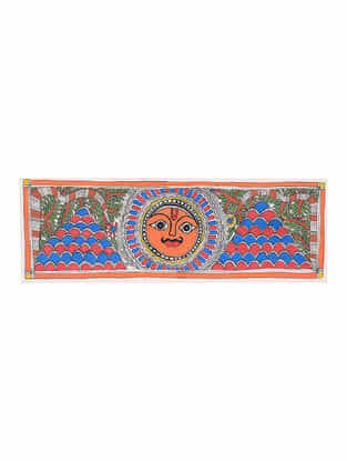 Soorajmukhi Madhubani Painting - 7.6in x 22.7in