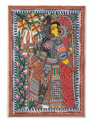 Ardhanarishwar Madhubani Painting - 22.2in x 15.1in