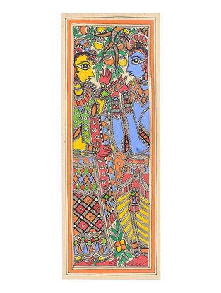 Radha-Krishna Madhubani Painting - 15.2in x 5.7in