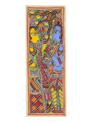 Radha-Krishna Madhubani Painting - 15.2in x 5.6in