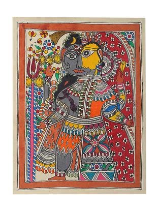 Ardhanarishwar Madhubani Painting - 15.5in x 11in