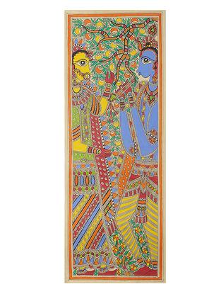 Radha-Krishna Madhubani Painting - 30.2in x 11.2in