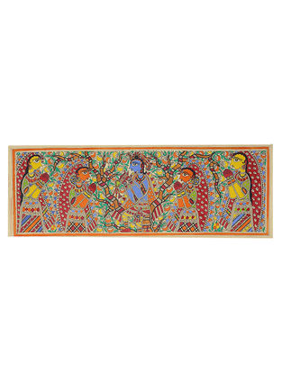 Radha-Krishna Madhubani Painting - 11in x 30in