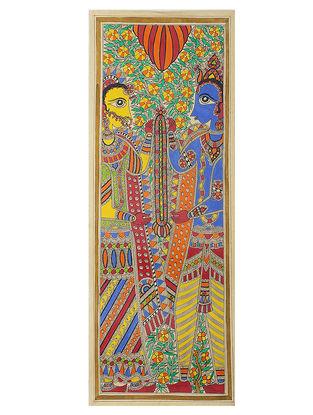 Deity Madhubani Painting - 30.5in x 11.2in
