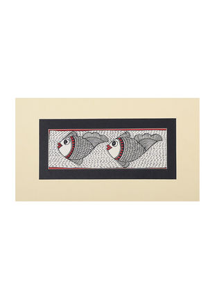Fish Mounted Madhubani Painting - 6.5in x 11in