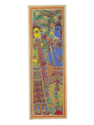 Radha-Krishna Madhubani Painting - 22.5in x 7.5in