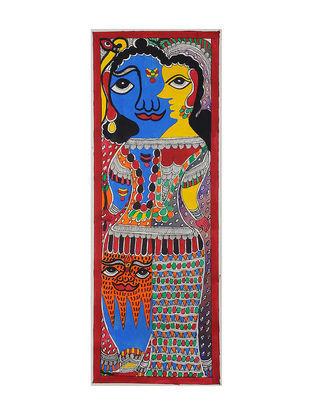 Ardha Nareshwar Madhubani Painting (22in x 7.5in)