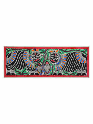 Cat Madhubani Painting (7.5in x 22in)