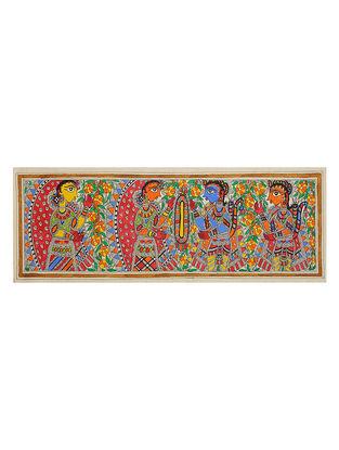 Ram Sita Madhubani Painting (7.5in x 22in)