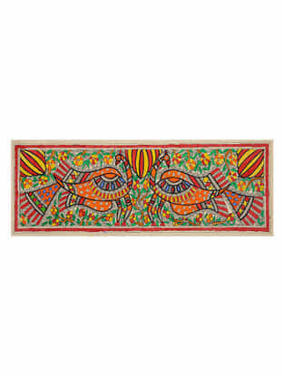 Peacock Madhubani Painting (7.5in x 22in)