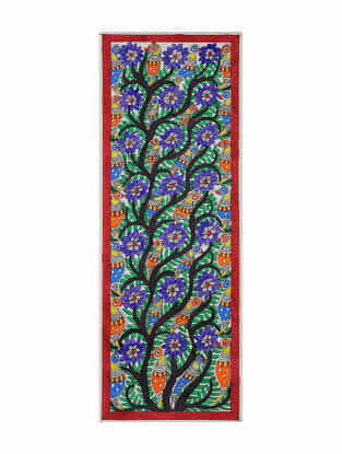 Tree of Life Madhubani Painting (22in x 7.5in)
