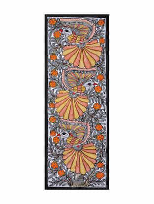 Bird Madhubani Painting (22in x 7.5in)