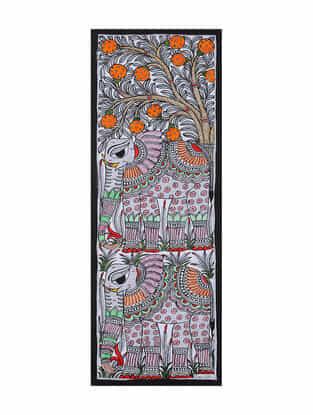 Elephant Madhubani Painting (22in x 7.5in)