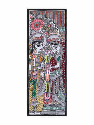 Ram Sita Madhubani Painting (22in x 7.5in)