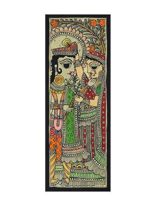 Radha Krishna Madhubani Painting (15in x 5.5in)