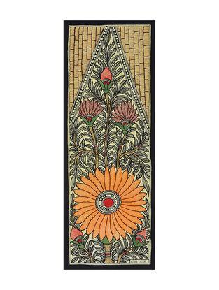 Krishnas Tree Madhubani Painting (15in x 5.5in)