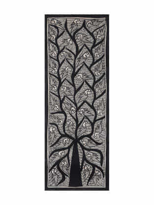 Tree of life Madhubani Painting (15in x 5.5in)