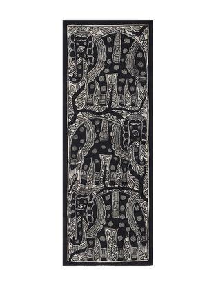 Elephant Madhubani Painting (15in x 5.5in)