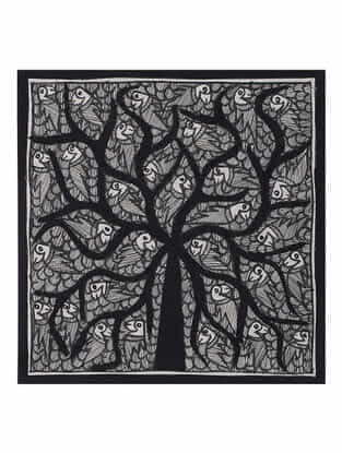 Tree of Life Madhubani Painting (7.2in x 7.5in)