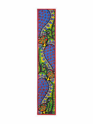 Peacock Madhubani Painting (22in x 3.7in)