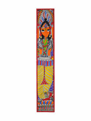Ganesha Madhubani Painting (22in x 3.7in)