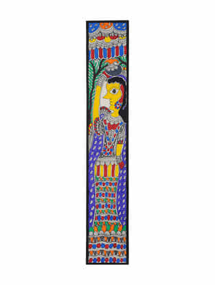 Village Lady Madhubani Painting (22in x 3.7in)