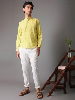 Yellow-Green Handloom Cotton Shirt