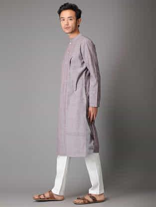 White Tie-Up Waist Handloom Cotton Pyjama