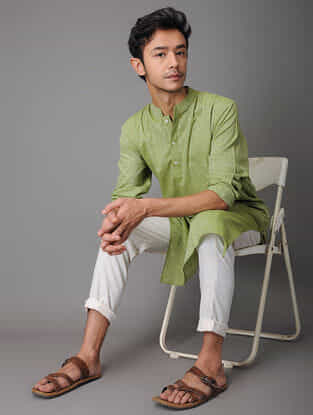 Green Handloom Cotton Kurta