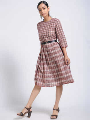 Black-Madder Bagh-Printed Cotton Dress