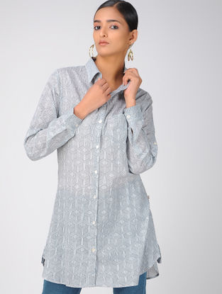 Black-Blue Cotton Tunic