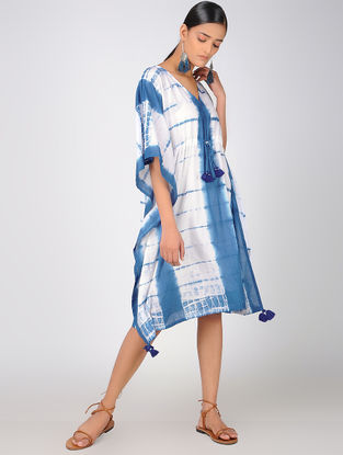Blue-White Cotton Kaftan