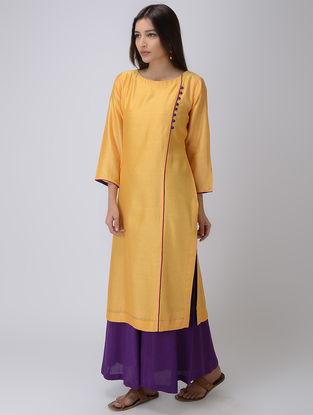 Yellow Chanderi Kurta
