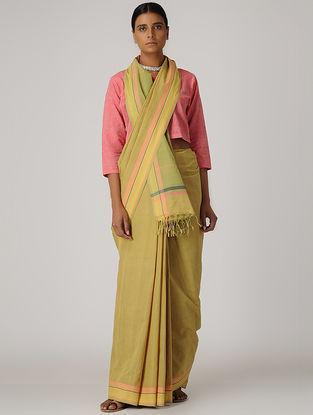 Green-Pink Mangalgiri Cotton Saree