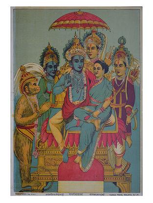 Raja Ravi Varma's Ram Panchayatan Lithograph on Paper- 14in x 10in