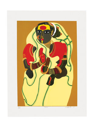 Thota Vaikuntams Limited Edition Sugana Serigraph on Paper - 40in x 30in