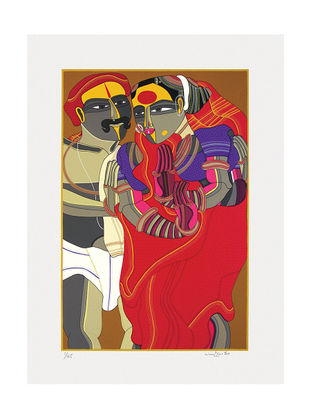 Thota Vaikuntams Limited Edition Untitled Serigraph on Paper - 30in x 22in