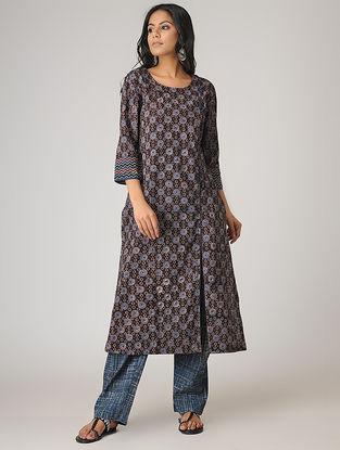 Black Ajrakh-printed Cotton Kurta