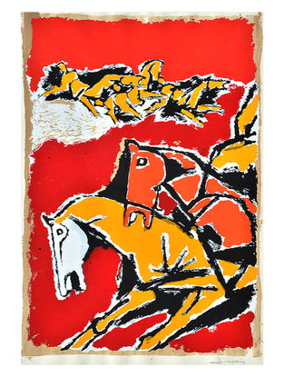 Horse Series 45.5in x 34.5in x 1.5in with Certificate