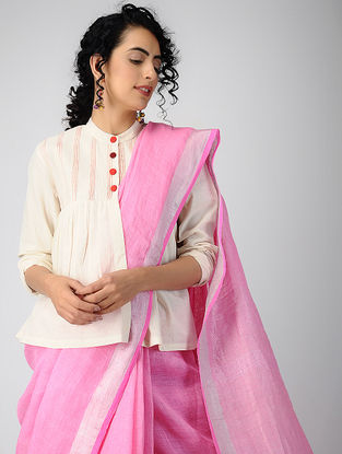 Ivory Pintuck Cotton Khadi Jacket