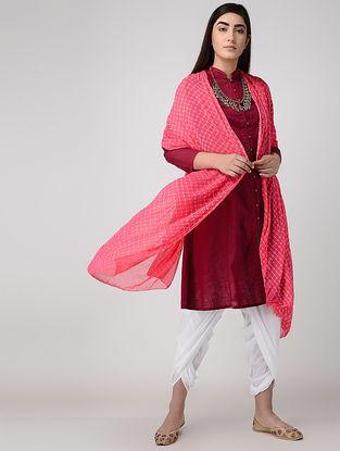 Pink Leheriya Chiffon Dupatta