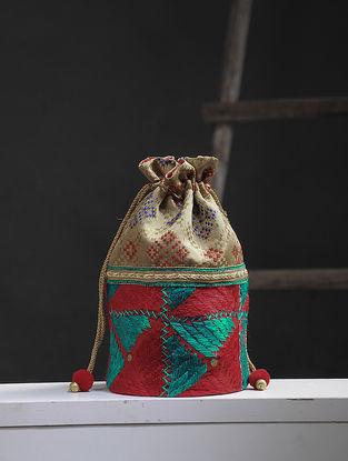 Mouse-Multicolored Phulkari Silk Potli