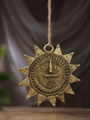 Dhokra Brass Sun Mask (L:5.6in, W:5.6in)